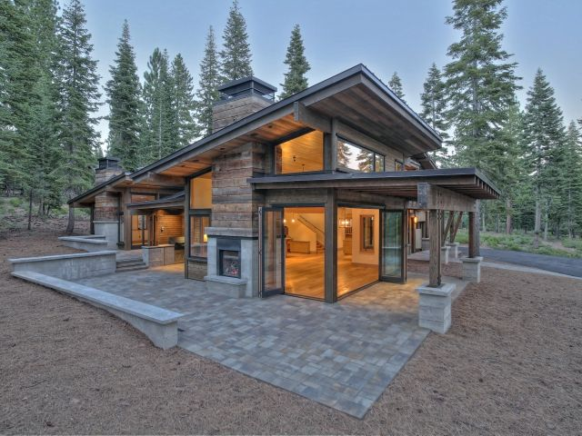 1379385 exterior 640x480 mountain modern pinterest for Modern cabin floor plans