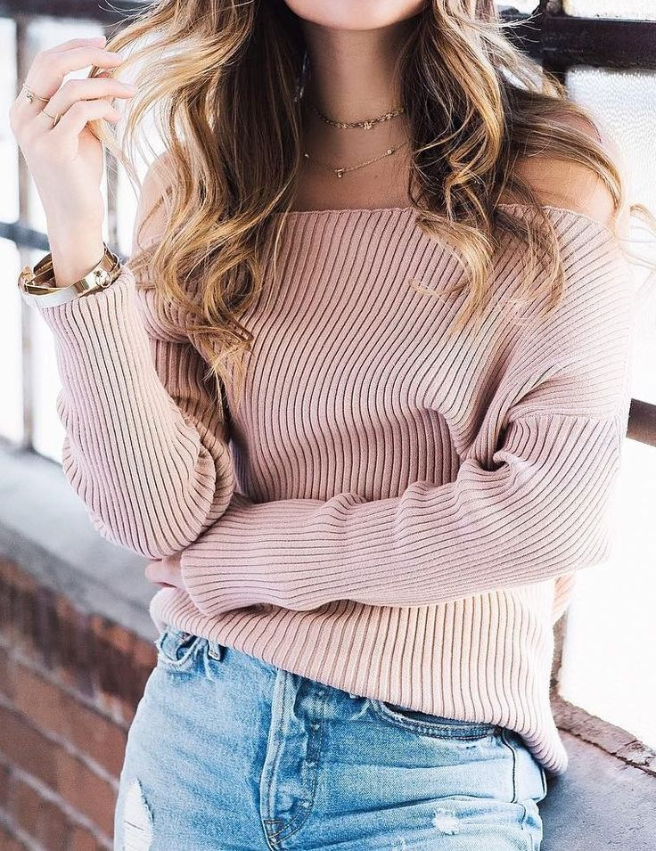Pink Sweater // Ripped Jeans                                                                             Source