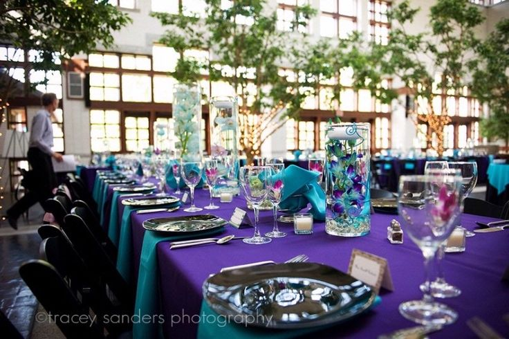 Purple and Teal Wedding Ideas i never thought i would like this but really do!!