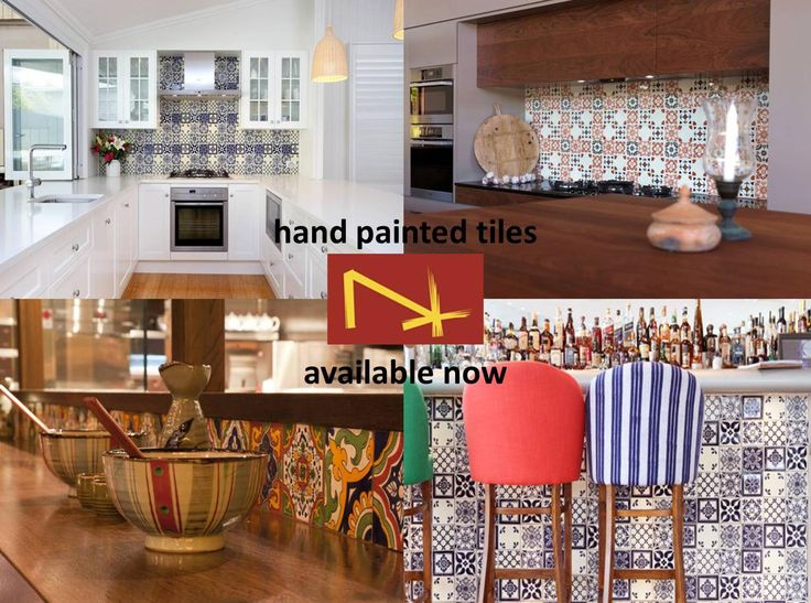 Handmade and hand painted tiles with the rich colours of the Mediterranean. Perfectly matched with stone and wooden fixtures. Now available at Nerang Tiles. #handmadetiles #handpaintedtiles #tiles #spanishtiles #arabictiles #patterntiles