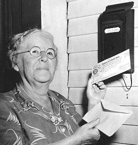 On January 31st 1940 Ida Fuller was issued the first social security check in the amount of $22.54.
