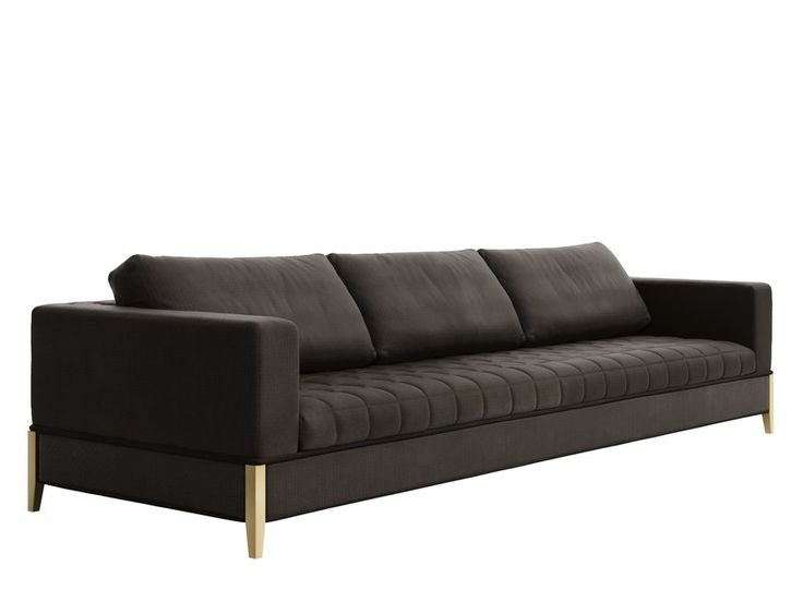 Download the catalogue and request prices of Oyster 3p By capital collection, 3 seater leather sofa design Luca Scacchetti, oyster Collection