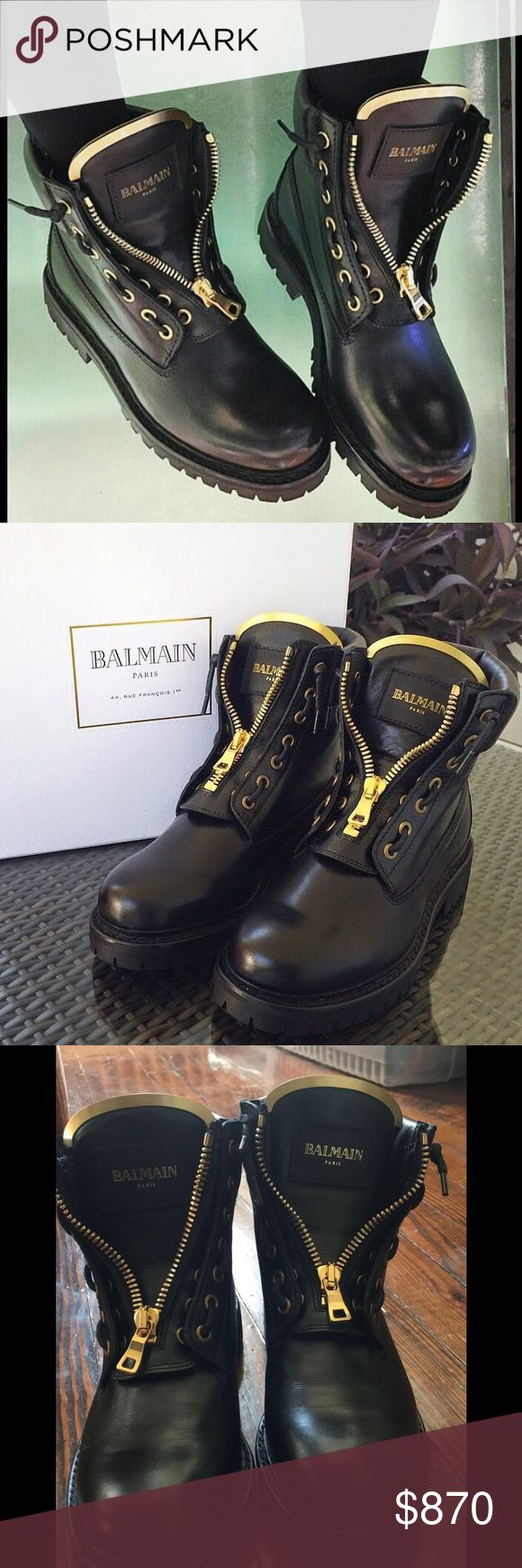 Balmain Boots in excellent condition! 100% authentic women Balmain boots. In excellent condition only worn once! Balmain Shoes Combat & Moto Boots