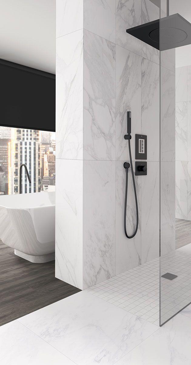 Marmoroptik Bringt Einen Hellen Freundlichen Ton In Dein Badezimmer Und Verbreitet Einen Hauc Wohnung Badezimmer Dekoration Badezimmer Badezimmer Inspiration