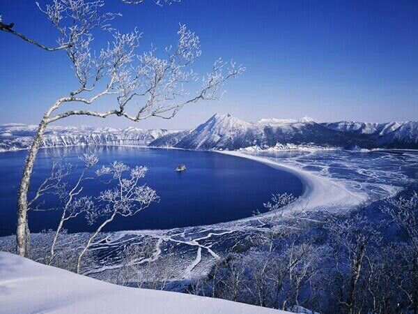Lake Mashu Hokkaido During Winter Beautiful Scenery Japan Pinterest Winter And Lakes