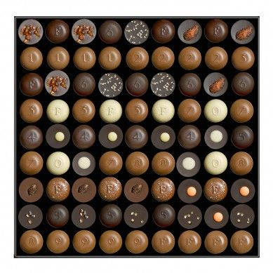 81 chocolates from Fauchon Paris.  Oh!  Mon dieu!  Heaven in a bôite!