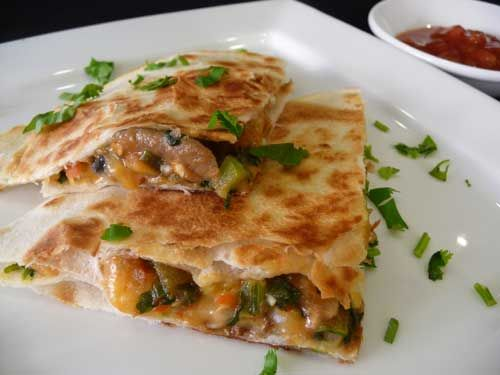 Vegetable Quesadilla Has the recipe and a video demonstration.  Can't wait to try it!