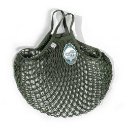 Filet à Provisions Petite Anse Kaki en coton - la société française FILT est spécialisée dans le tricotage de filets depuis1860 !