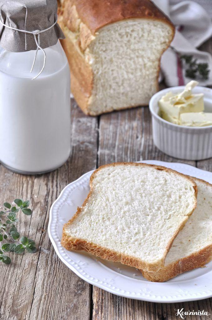 Μαλακό & αφράτο σπιτικό ψωμί του τοστ / Eggless milk bread (tangzhong method)