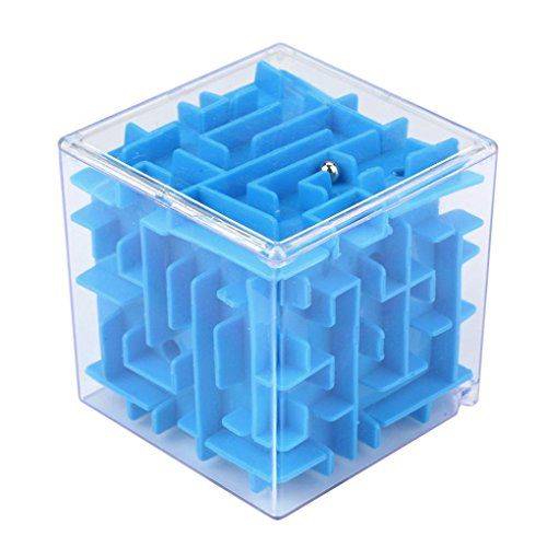 3D Labyrinthine Ball ,Money Maze Bank, Saving Coin Collection Case Box for Fun Brain Game PuzzleToy/ Challenge Fidget Toys/Christmas Gifts (blue) #Labyrinthine #Ball #,Money #Maze #Bank, #Saving #Coin #Collection #Case #Brain #Game #PuzzleToy/ #Challenge #Fidget #Toys/Christmas #Gifts #(blue)