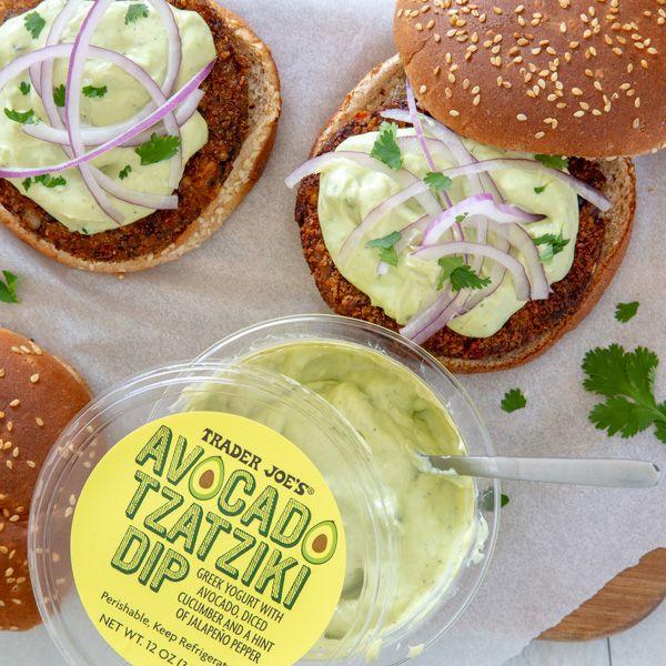 Quinoa Veggie Burgers With Avocado Tzatziki Recipe Quinoa Veggie Burger Food Veggie Burger