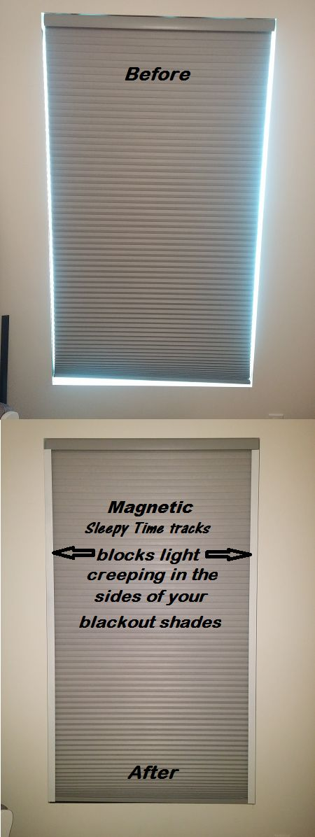 EXTREME Room Darkening for blackout shades. Use with your existing Window Treatments. Replace blackout curtains. Simple product that's easy to install and use.