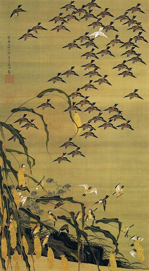 """ITŌ Jakuchū 伊藤 若冲 (1716-1800) - """"Pictures of the Colorful Realm of Living Beings"""" - 1759"""