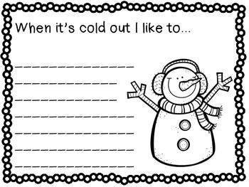 Winter Writing Prompts - 23 fun writing prompts for all of winter! Make a class book or a fun bulletin board.