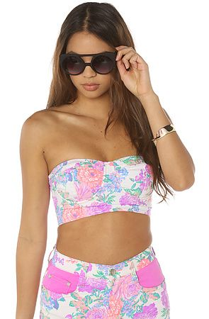 The Electric Fields Strapless Bustier by MINKPINK
