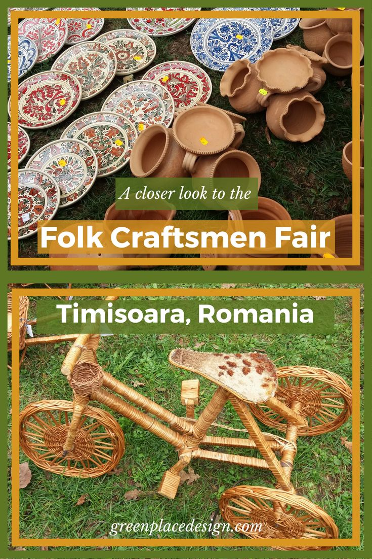A closer look to the Folk Craftsmen Fair held in Timisoara, Romania | Green Place Design | Unique traditional objects for your home, such as wood carved decorations, clay pots and willow baskets. All handmade. Bringing a beautiful rustic touch to any house. Indoor and outdoor pieces. |#craftsmenfair#crafts#woodcraft#claypot#willowbasket#artisans#Timisoara#Romania#traditionalevent#decorations#rustic#traditional#indoor#outdoor#decor