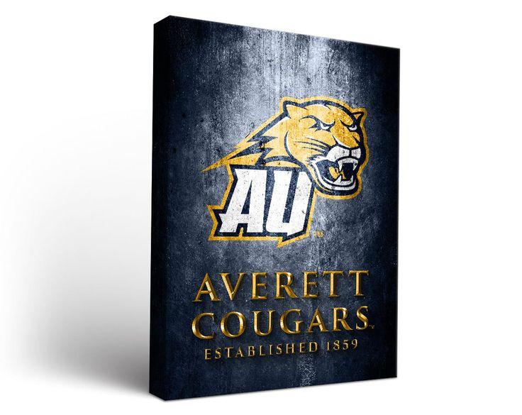 Averett University Cougars Aged Metal Rectangle Canvas Wall Art