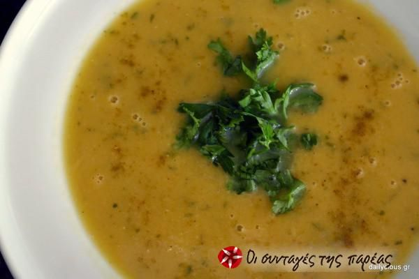 Σούπα Λαχανικών με Κόκκινη Φακή, Κύμινο και Λεμόνι #sintagespareas