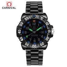 Carnival Men s Military table Sports Outdoor Watch Large Dial Tritium gas Strong Lights font b