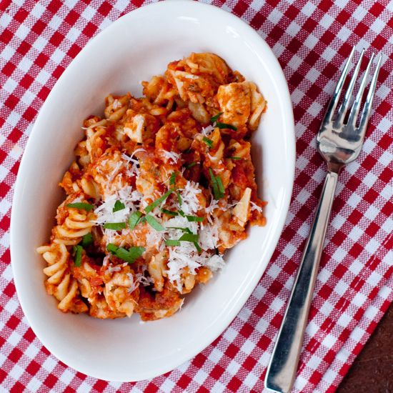 Jamie Oliver's Chicken Pasta with Herby 6-Veg Ragu from 15 Minute Meals-made this last night-yum!