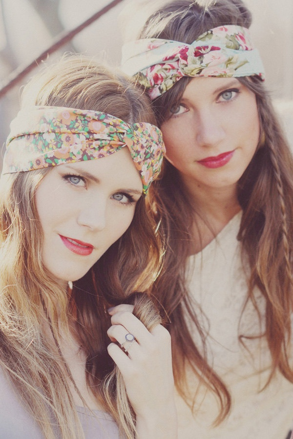 Vintage Inspired Bohemian Headband /// I will be wearing one of these this summer!