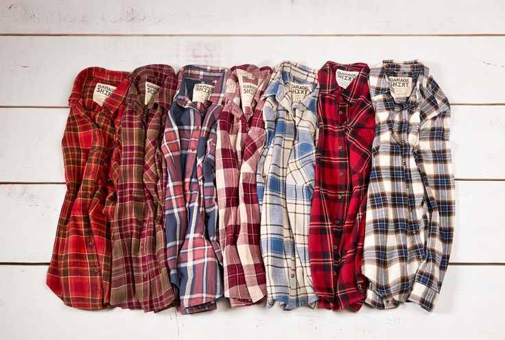 Boyfriend Flannel Plaid Shirts.