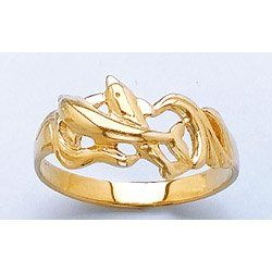 Amazon.com: 14k Gold 6.5 Double Dolphins & Waves: Million Charms: Jewelry
