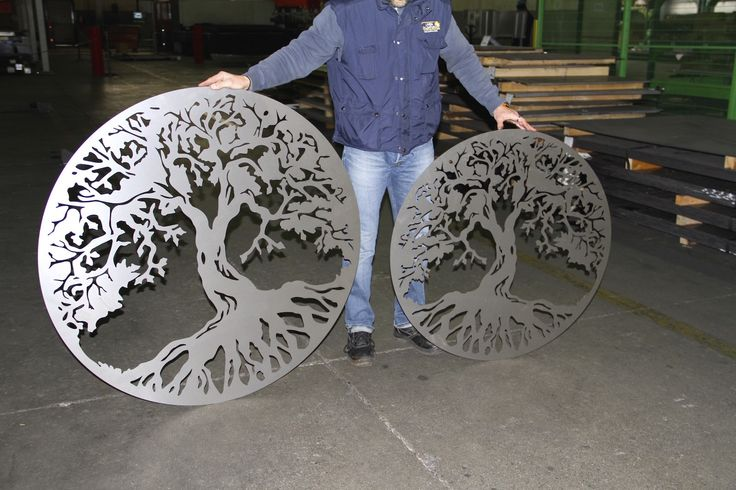 Tree of Life - CMMLASER specializes in laser cutting of steel sheets, this is an example of what we are able to do using laser machines.