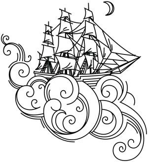Dreamboat design (UTH4177) from UrbanThreads.com
