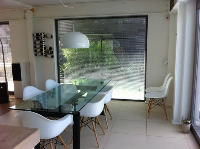 Charles eames daw chairs and le corbusier lc6 table retrofurnish retro furniture pinterest - Eames eames stoel ...