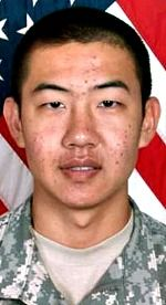Army PFC Ming Sun, 20, of Cathedral City, California. Died January 9, 2007, serving during Operation Iraqi Freedom. Assigned to 1st Battalion, 9th Infantry Regiment, 2nd Brigade Combat Team, 2nd Infantry Division, Fort Carson, Colorado. Died of wounds sustained when hit by enemy small-arms fire during combat patrol operations in Ramadi, Anbar Province, Iraq.