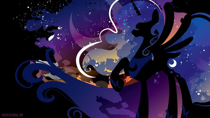 Luna Silhouette Wall - Black by SpaceKitty.deviantart.com on @deviantART