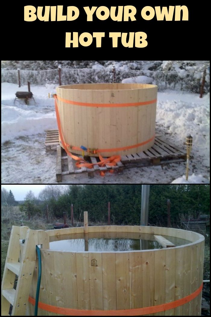 Build Your Own Hot Tub Diy How To Amp Crafts Outdoor
