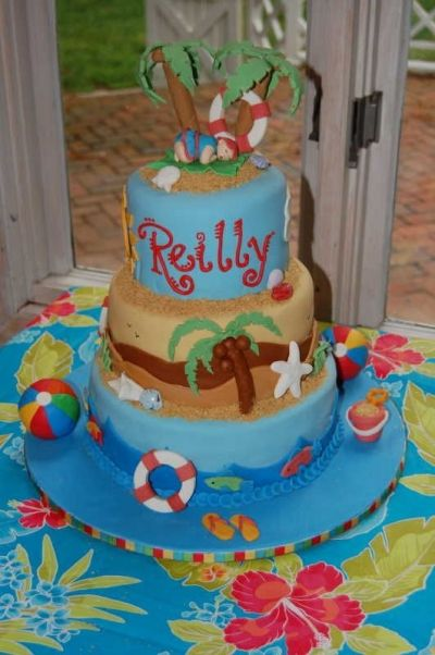 Beach Theme Baby Shower Cake By Julielovescake On CakeCentral.com