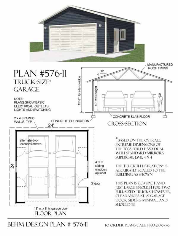 317 best Garage Plans By Behm Design PDF Plans images – Semi Truck Garage Plans