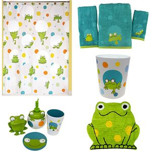 Peeking Frogs Bathroom Collection Bundle