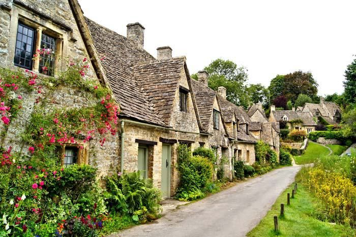 Bibury, England. Thankfully the United Kingdom has chosen to preserve this gem. The most gorgeous fairy tale travel destinations in the world!