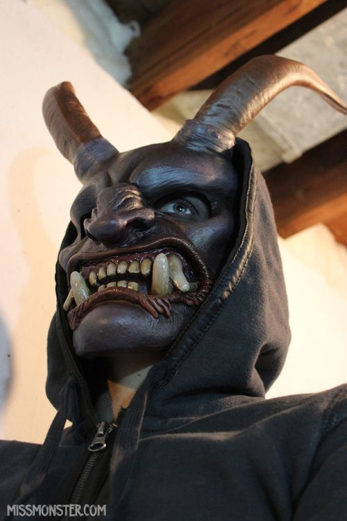 Krampus Mask DIY preorder by missmonster on DeviantArt