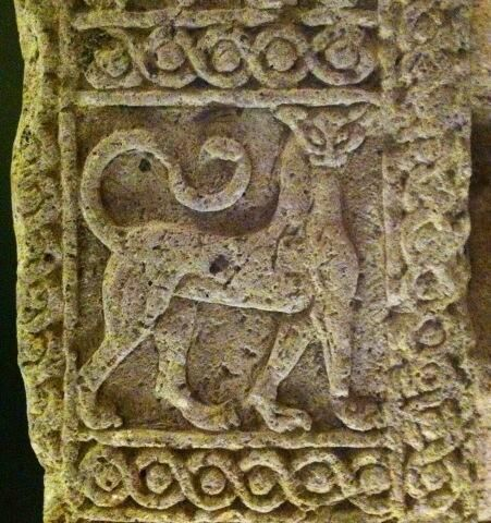 Etruscan lion panel from Tarquina