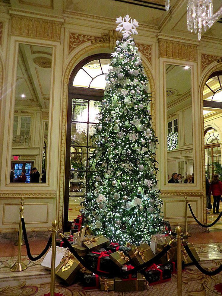 Christmas at the Plaza Hotel, 768 Fifth Avenue, New York City.