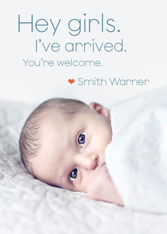 17 Best ideas about Boy Announcement – New Baby Boy Announcement
