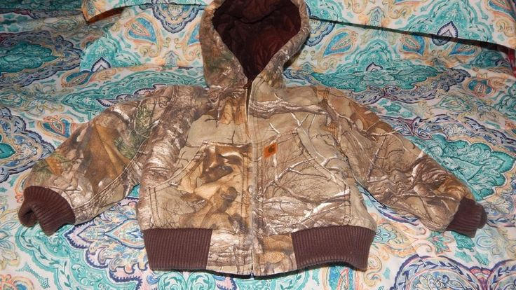 Toddler Boys Carhartt Winter Jacket Size 3T 3 Camo Print Coat GUC  #Carhartt #Jacket #Everyday