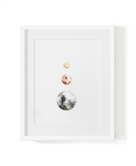 Available in an in A2, A3, or A4 unframed print. #moon #lunar #leluna #watercolor #artprint