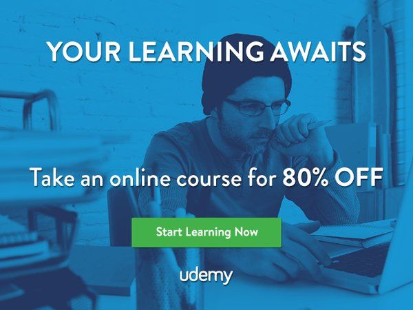 13 best udemy latest coupons deals sale images on pinterest coupon your learning awaits take an online course for 80 off get it fandeluxe Images