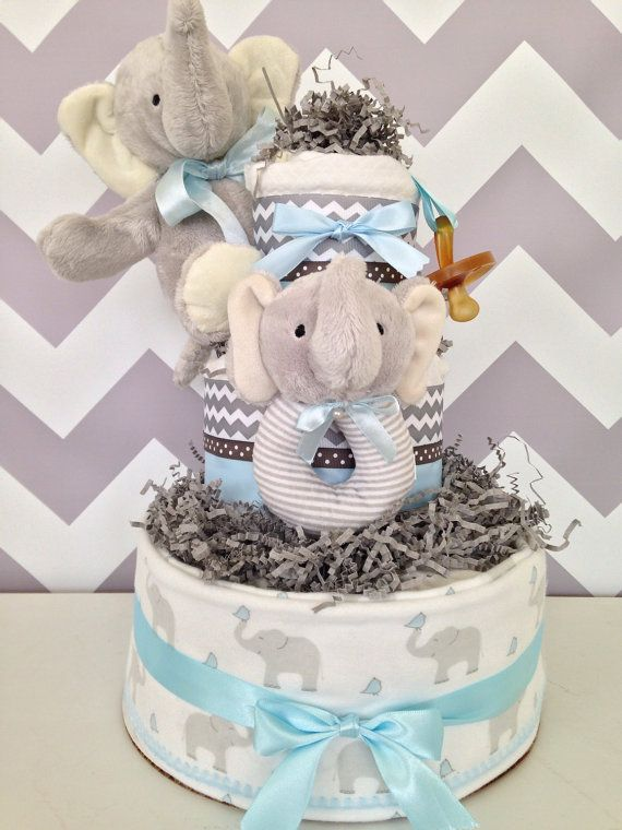 68 best diaper cakes for boys images on pinterest baby baby gifts elephant theme diaper cake for boys on etsy 8900 negle Images