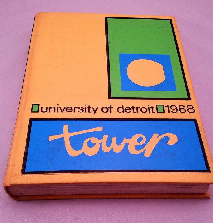 1968 University of Detroit Tower College Year Book Volume 38