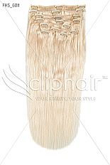 Lightest Blonde Clip in Human Hair Extensions | 18 Inch | £39.99 only | Shop Now: http://www.cliphair.co.uk/18-Inch-Full-Head-Set-Clip-In-Hair-Extensions-Lightest-Blonde-60.html