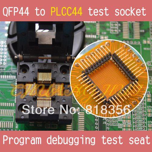 QFP44 to PLCC44 test socket TQFP44 QFP44 socket Program debugging test seat