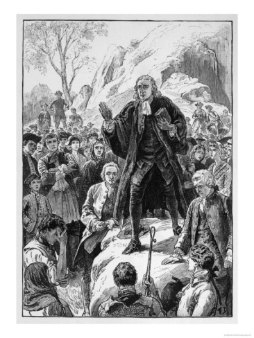 Methodism John Wesley Preaches in Cornwall Giclee Print at Art.com