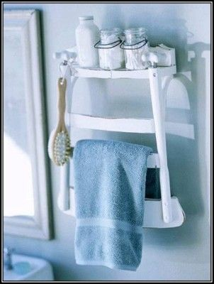 DIY Towel holder  http://myhoneysplace.com/diy-towel-holder-2/  what an interesting way to recycle a chair   #recycling